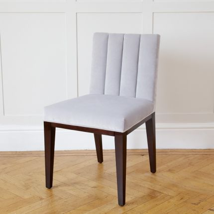 Luxury ribbed back design dining chair