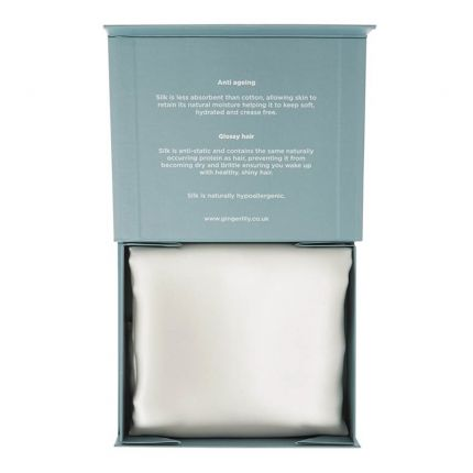 Ivory pure silk pillowcase in gift box