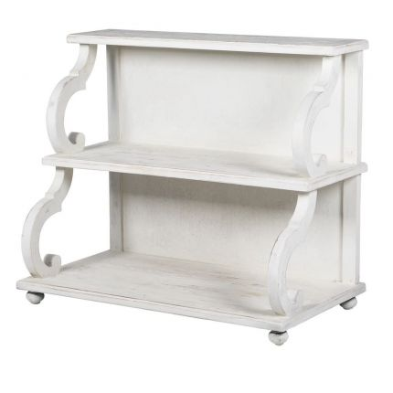 French-style classic white double shelf