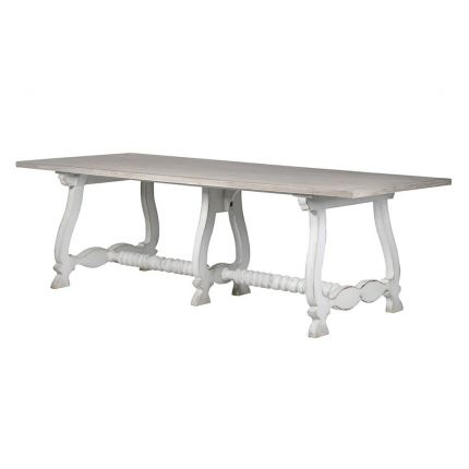 French-style white wash dining table