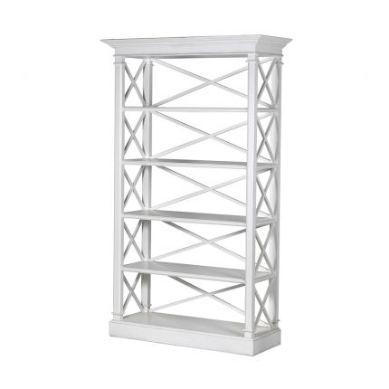 Contemporary white wooden display cabinet