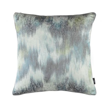 A beautiful textured abstract velvet and satin cushion