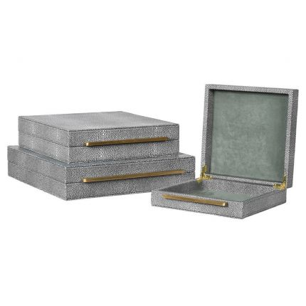 Shagreen Boxes - Set of 3