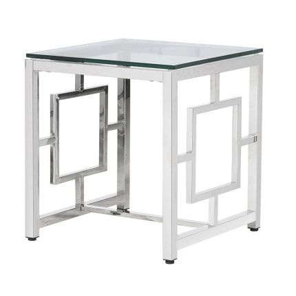 Deco Side Table - Silver