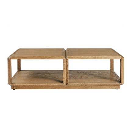 Luxurious natural oak wooden coffee table