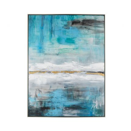 A nature-inspired abstract handpainted art piece