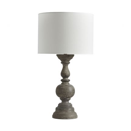 Luxurious oak finish table lamp with white shade