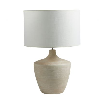 Modern neutral-toned table lamp with white shade
