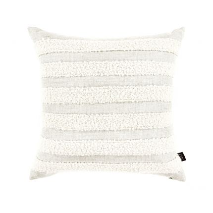 A beautiful boucle weave pillow with a stylish stripe design