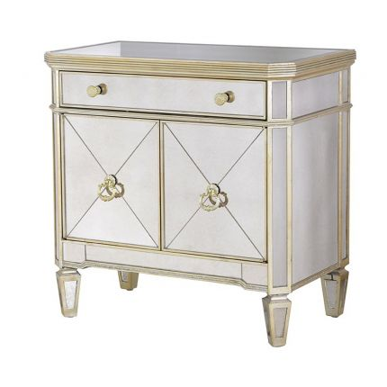 Cherbourg Antiqued Glass Cupboard