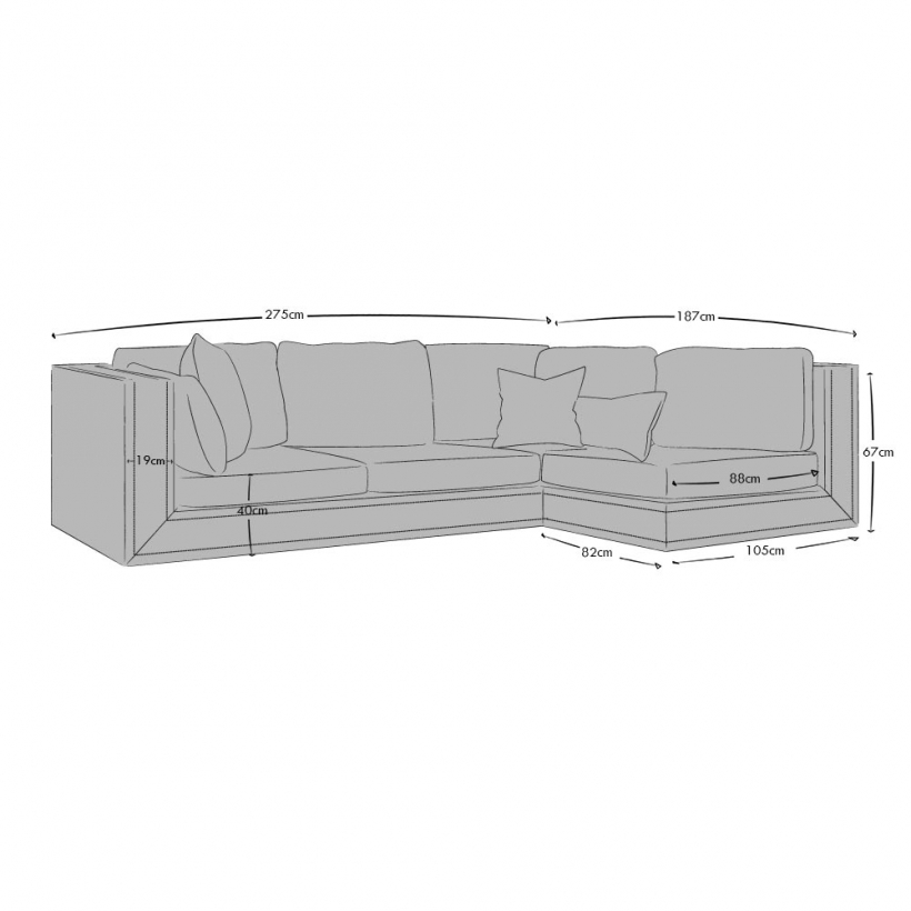Corner Sofa Right Hand Facing - Small